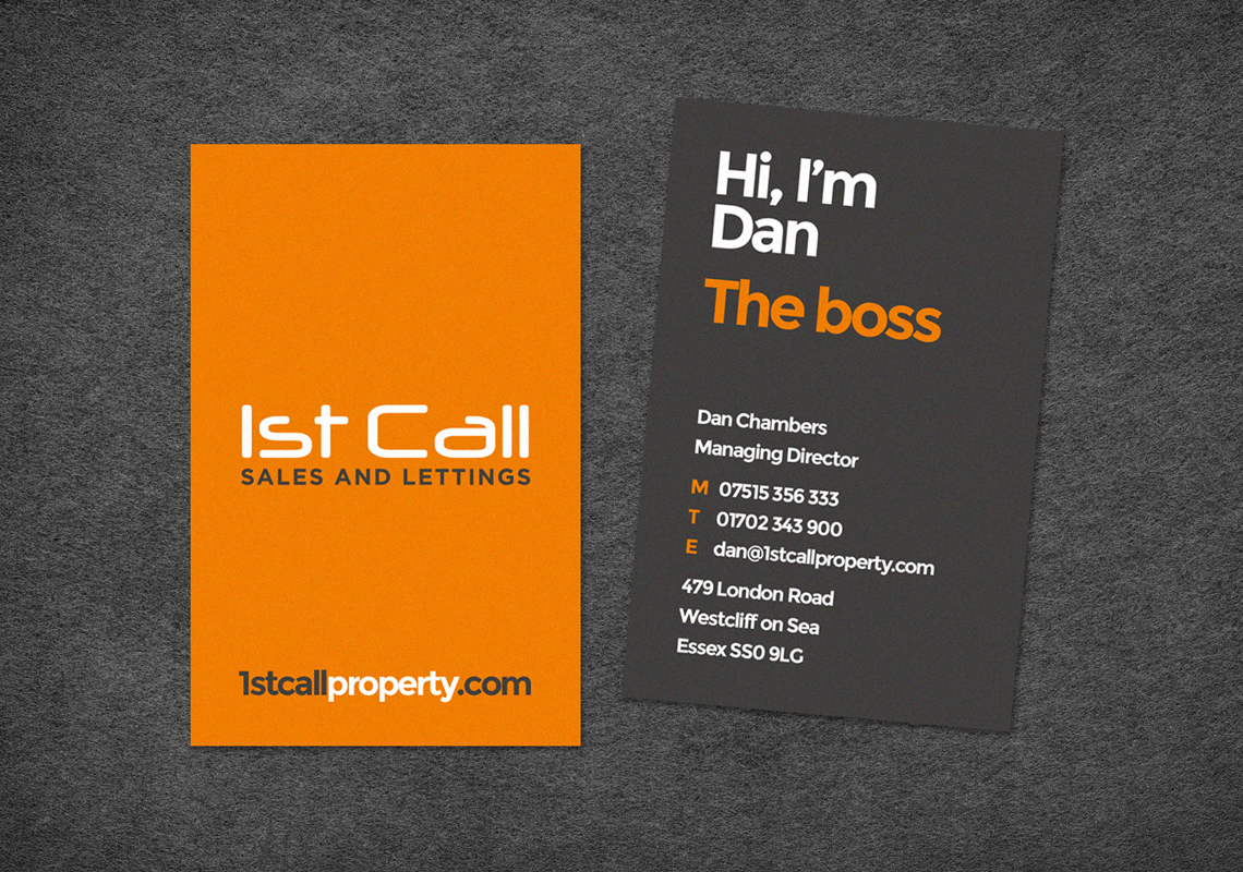 1st Call Property - Business Card Design Essex