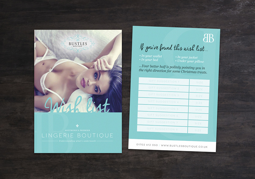 Bustles - Leaflet Design Essex