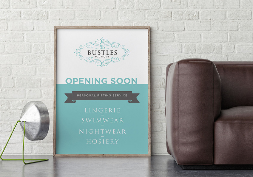 Bustles - Poster Design Essex