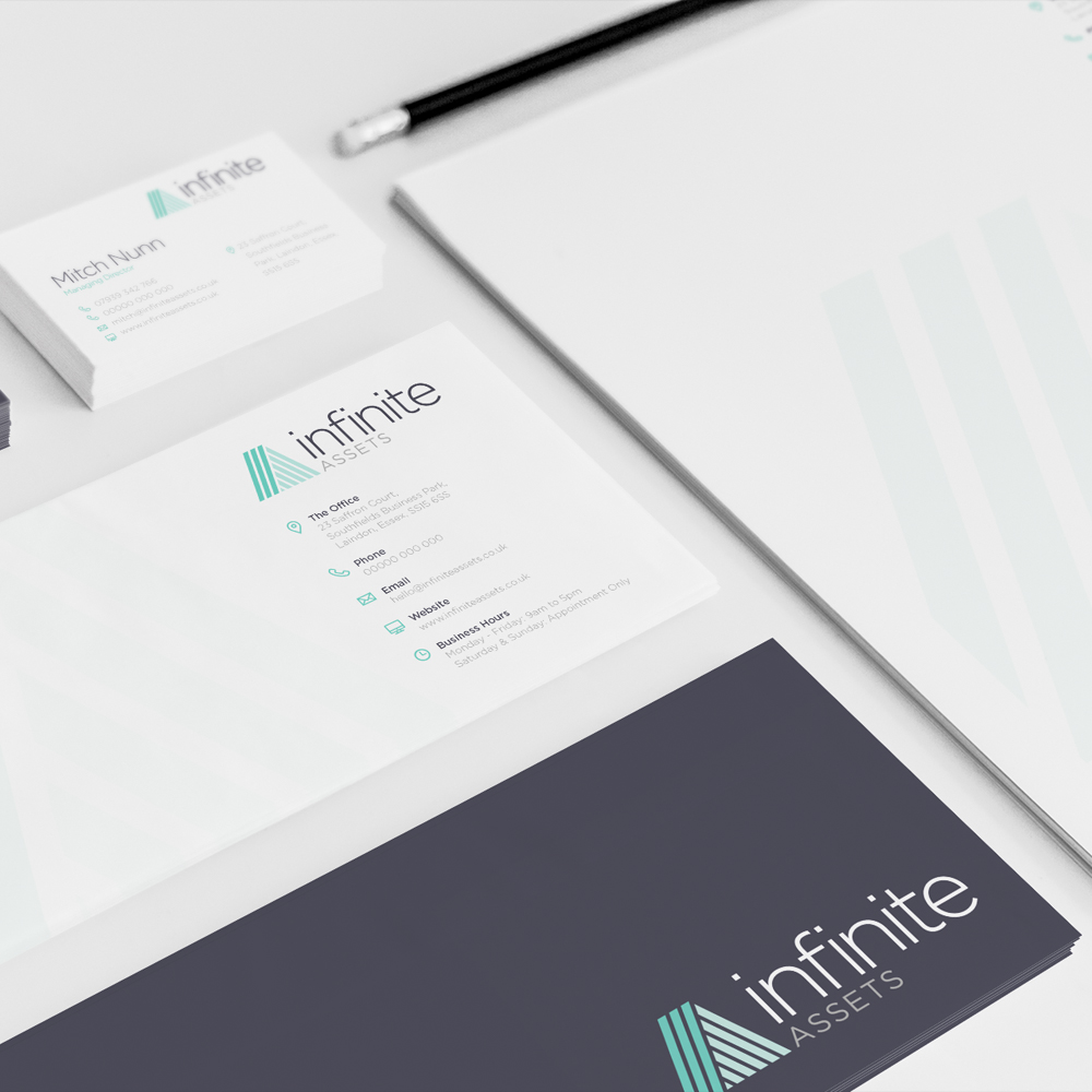 Infinite Assets - Bussiness Card Design Essex