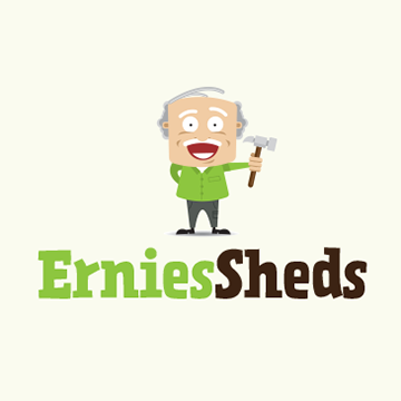 Ernies Sheds - Logo Design Essex