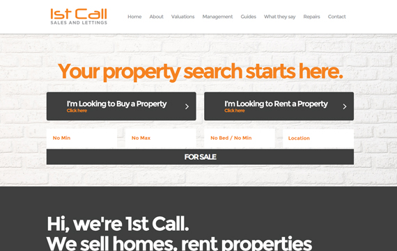 1st Call Property Southend - Website Design Essex Portfolio