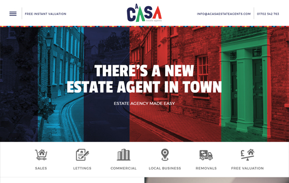 Acasa Estate Agents - Website Design Essex Portfolio