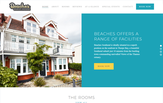 Beaches Guest House - Website Design Essex Portfolio