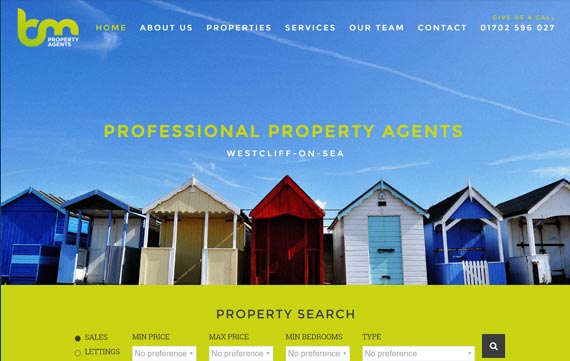 BM Property Agents - Website Design Essex Portfolio