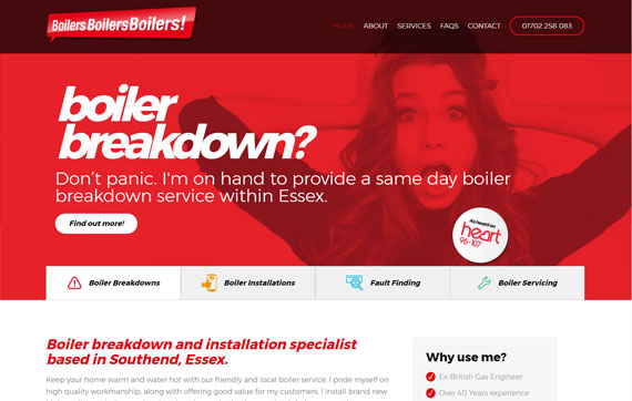 Boilers Boilers Boilers - Website Design Essex Portfolio