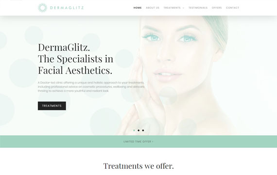 Derma Glitz - Website Design Essex Portfolio