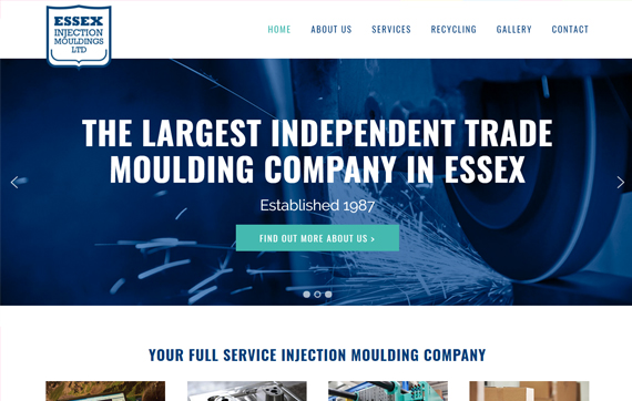 Essex Injection Mouldings - Website Design Essex Portfolio