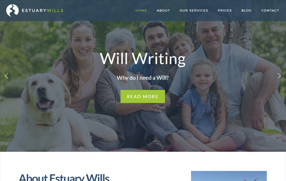 Estuary Wills - Website Design Essex Portfolio