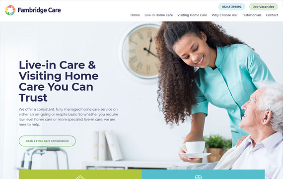 Fambridge Care - Website Design Essex Portfolio
