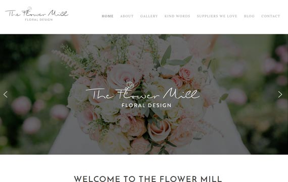 The Flower Mill - Website Design Essex Portfolio