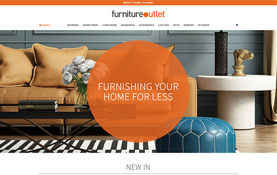 Furniture Outlet Stores - Ecommerce Website Design Essex