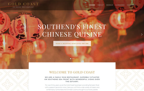 Gold Coast - Website Design Essex Portfolio