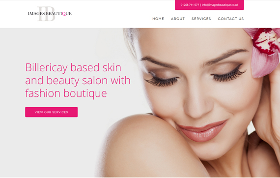 Images Beautique - Website Design Essex Portfolio