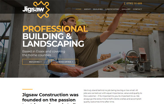 Jigsaw Construction - Website Design Essex Portfolio