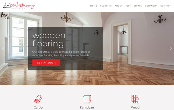 Luke Antony Flooring - Website Design Essex Portfolio