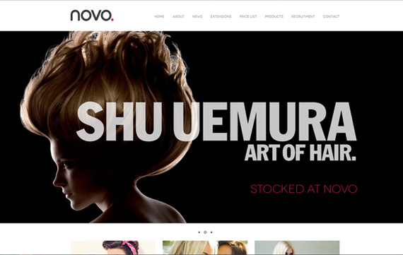 Novo Hair Southend - Website Design Essex Portfolio