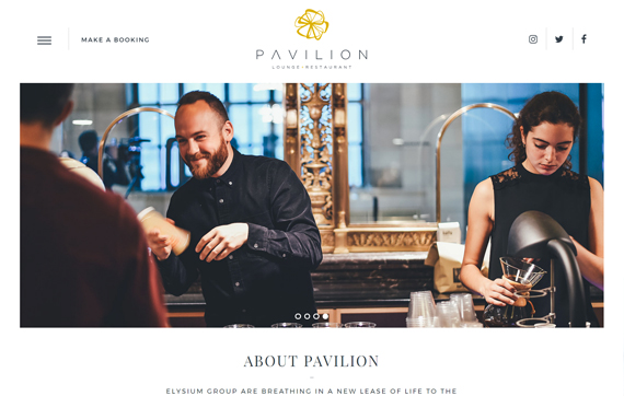 Pavilion - Website Design Essex Portfolio