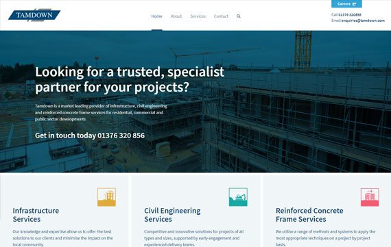 Tamdown - Website Design Essex Portfolio