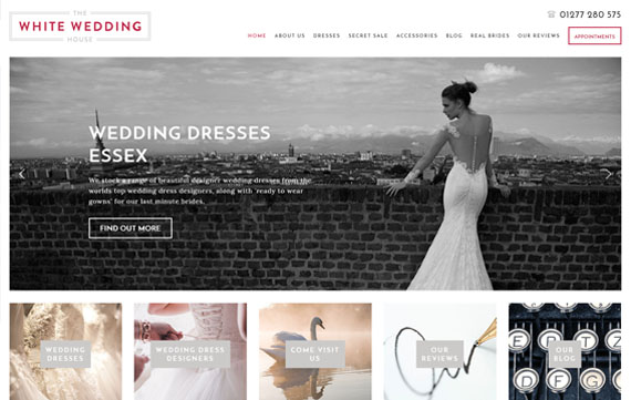 The White Wedding House - Website Design Essex Portfolio